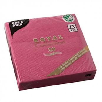 20 serviettes fuchsia - 25cm