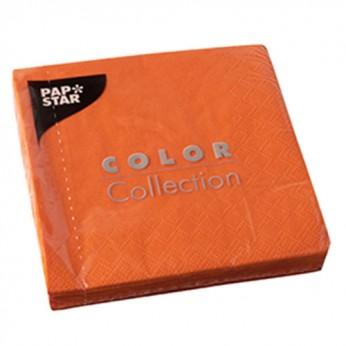 20 serviettes 3 plis orange - 24cm