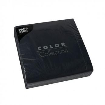 50 serviettes 3 plis noires - 33cm