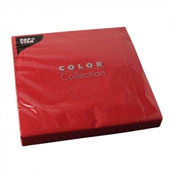 50 serviettes 2 plis rouges - 40cm