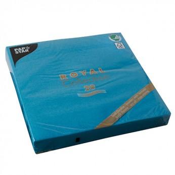 20 serviettes turquoises - 40cm