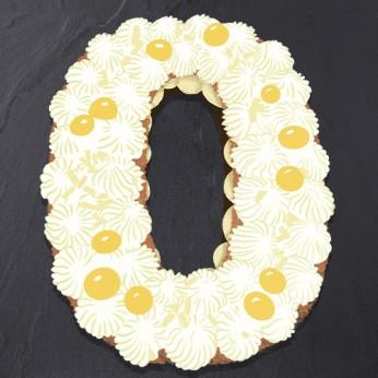Number Cake - Chocolat blanc / Citron - Numéro 0 - 8 parts