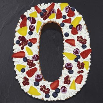 Number Cake - Fraisier - Numéro 0 - 8 parts