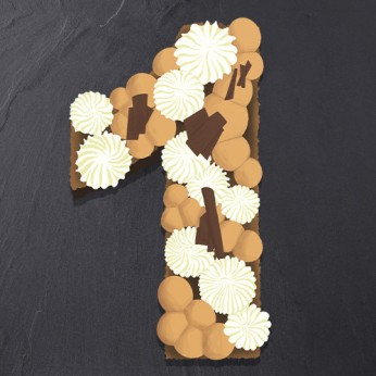 Number Cake - 3 chocolats - Numéro 1 - 15 parts