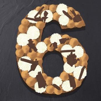 Number Cake - Trois chocolats - Numéro 6 - 15 parts