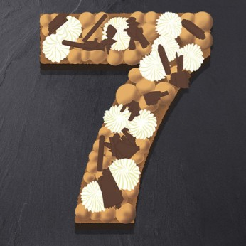 Number Cake - Trois chocolats - Numéro 7 - 15 parts