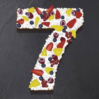 Number Cake - Framboise - Numéro 7 - 15 parts