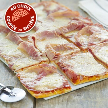 Pizza jambon fromage (NON COUPEE)