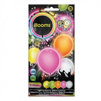 5 ballons LED unis mixtes