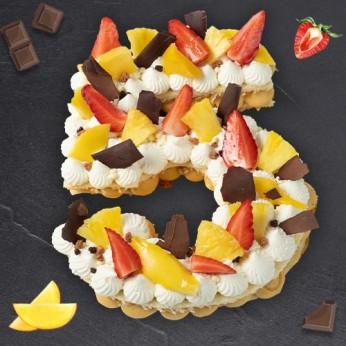 Number Cake - Passion - Numéro 5 - 8 parts