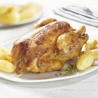 Demi poulet rôti + pommes de terre