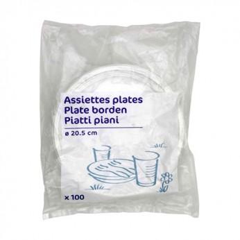 100 assiettes premier prix D 20,5 cm Carrefour Home