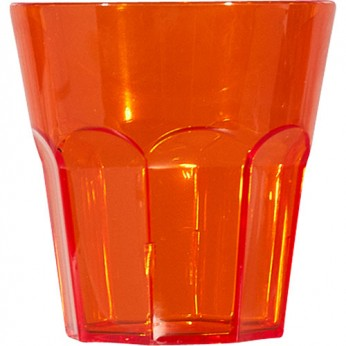 1 petit verre à facette orange