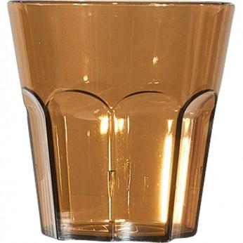 1 petit verre à facette taupe