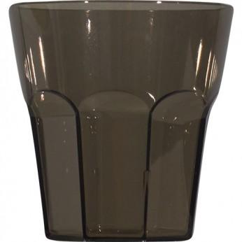 1 petit verre noir à facettes