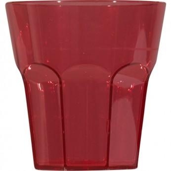 1 petit verre rouge à facettes