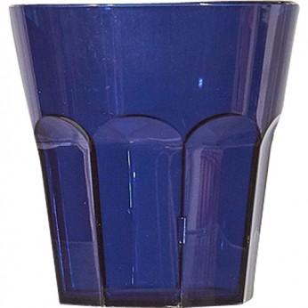 1 petit verre bleu à facettes