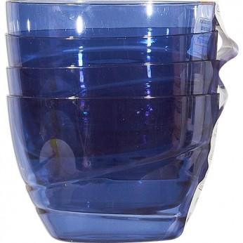 4 coupelles bleues nuit
