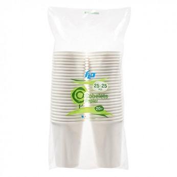 50 gobelets blancs en carton  - 20cl_carrefour_traiteur