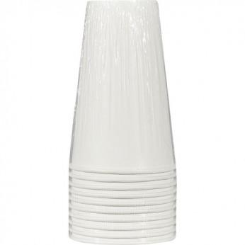 10 gobelets blancs en carton - 47cl