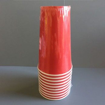 Gobelet rouge en carton - 45cl
