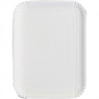 2 plateaux blancs en carton