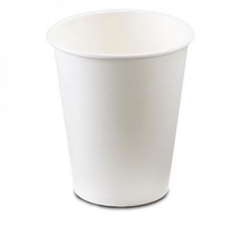 20 gobelets blancs en carton - 29cl