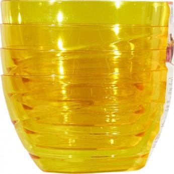 4 coupelles jaunes - 9,5cm