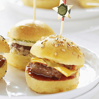 6 Minis cheese burgers