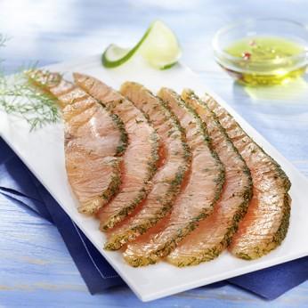 Emincés de saumon à l'aneth