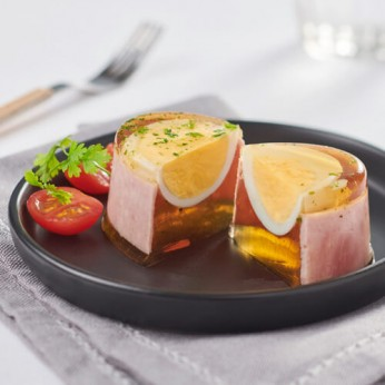 Aspic œuf mollet jambon