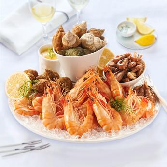 Assiette de fruits de mer spécial apéritif