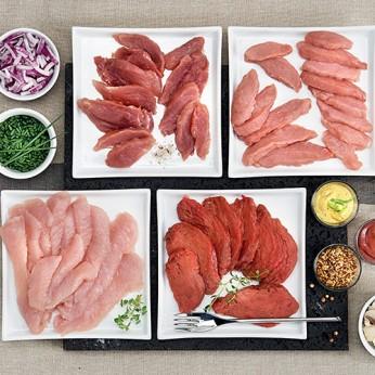 Assortiment de viandes cuisson plancha