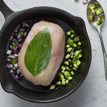 Ballotin de poulet farci au basilic