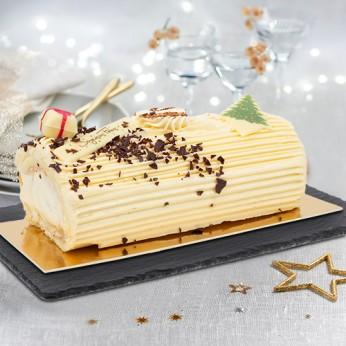 Bûche crème au beurre vanille - 6 parts
