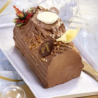 Bûche crème au beurre chocolat - 8/10 parts