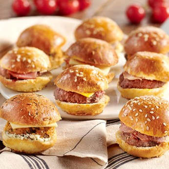 9 Minis cheese burgers