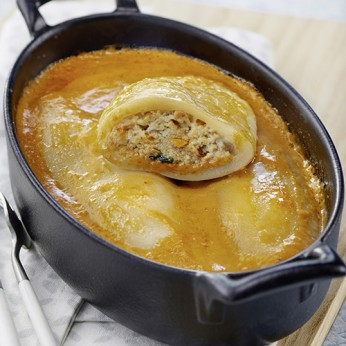 Calamars sauce à la bisque de langoustine