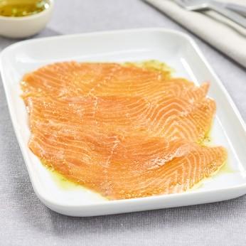 Carpaccio de saumon et sa marinade