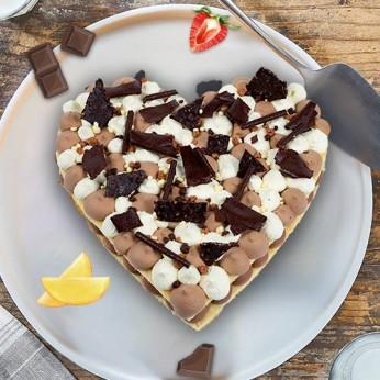 Coeur 3 chocolats - 8 parts