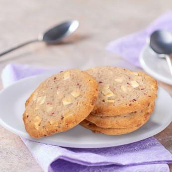 4 Cookies chocolat blanc framboise