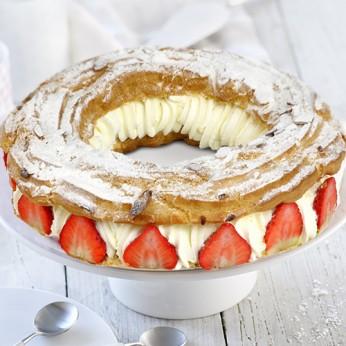 Couronne chantilly / fraises - 6 parts