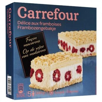 Délice aux framboises façon macaron Carrefour - 5 parts