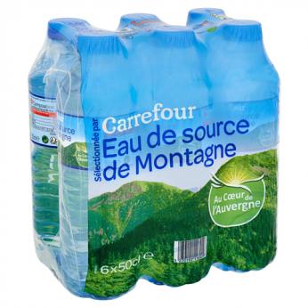 Eau de source de montagne Carrefour