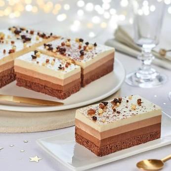 Entremet 3 chocolats - 2 parts