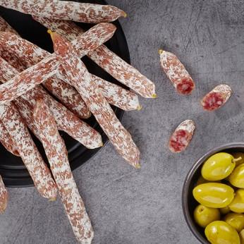 15 minis bûchettes pur porc aux noisettes