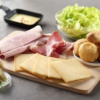 Fondue de fromage et pommes de terre