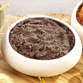 Tapenade à l'huile d'olive, olives et anchois