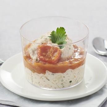 3 Fraicheurs crémeux de thon et tartare de tomates