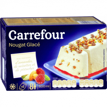 Glace nougat glacé Carrefour - 8 parts